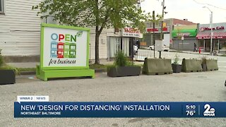 'Design for Distancing' installation in Northeast Baltimore