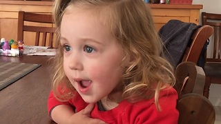 Two-Year Old Is Super Excited To Meet Her Baby Brother