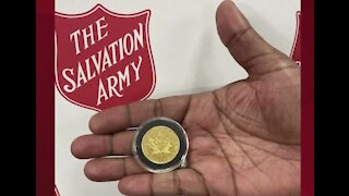 Salvation Army receives gold coin