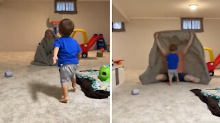 "Kid gets completely eaten by the ""bedsheet monster"""