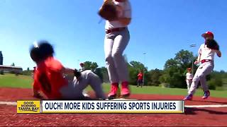 Ouch! More children suffering from sports-related injuries than ever before - Video