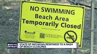 State of Michigan responds to a rash of beach closures - Video