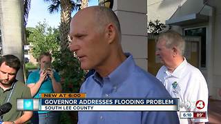Gov. Scott reviews flood concerns in Bonita Springs - Video