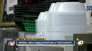 Imperial Beach bans styrofoam at restaurants - Video