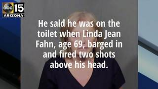 PD: Woman fires shots at husband on toilet - Video