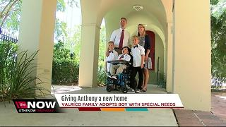 Family adopts disabled boy from foster website - Video