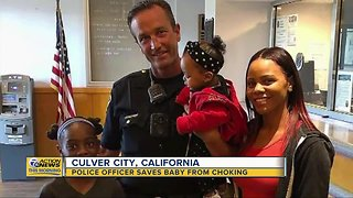 Police officer saves baby from choking in Culver City, California