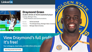 Is Draymond Green's LinkedIn page for REAL??!!! - Video