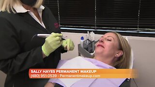 Sally Hayes shows us how she applies permanent makeup for your lips
