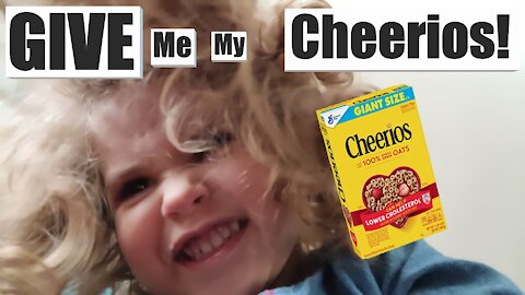 How NOT to Feed Cheerios to a 2 Yr old !