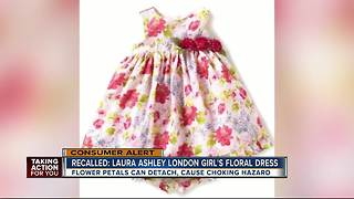 Laura Ashley dress recalled due to choking hazard - Video