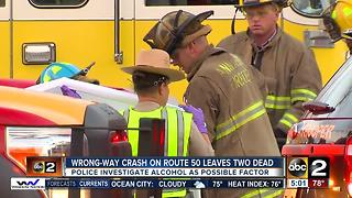 Wrong-way crash kills two on Route 50 - Video