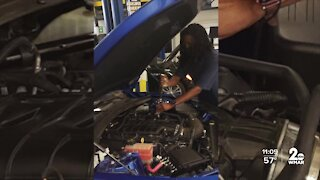 Mother finds opportunity at CCBC in the automotive program