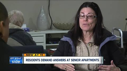 Residents demand answers at senior apartments