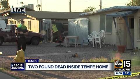 Two found dead inside Tempe home