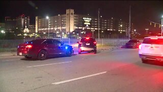 Detroit Public Schools officer hit by car doing donuts