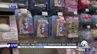 Black Friday shoppers hit the stores Thursday evening - Video