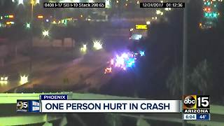One hurt after crash on I-17 near McDowell - Video