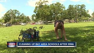 Schools rely on parents, professionals to help clean up after Irma - Video