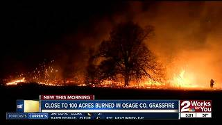Grass fire burned 100 acres in Osage County - Video