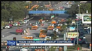 Cleanup continues after West Allis train derailment