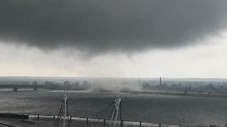 Whirlwind Sweeps Over Vistula River in Poland - Video
