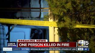 Police: One person found dead after Mesa mobile home fire - Video