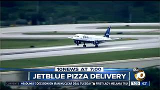 JetBlue delivering pizza? - Video