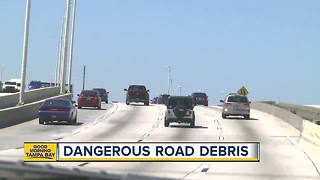 Dangerous road debris littering Florida highways putting thousands of at risk daily - Video