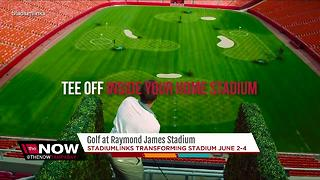 Calling all golfers: here's your chance to tee off at Raymond James Stadium - Video