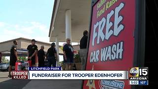 Car wash held to support family of fallen DPS Trooper - Video