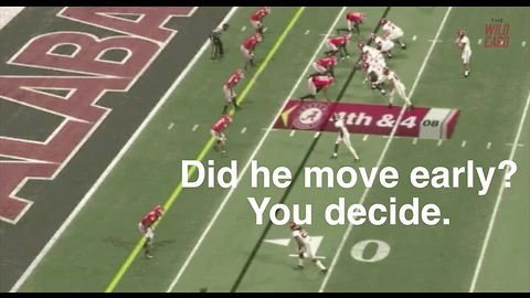 Was There A Missed False Start On Alabama's Game-Tying TD?