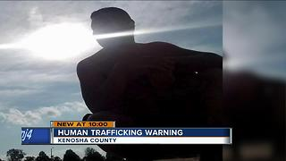Kenosha woman warns others about human trafficking - Video