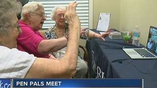 Brookfield seniors 'meet' pen pals through video chat - Video
