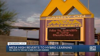 Mesa High School transitioning to hybrid learning