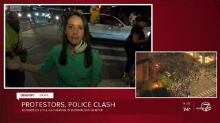 Denver7 reporter describes the sights, people inside a chaotic protest crowd