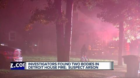 Two dead in fire on Detroit's northwest side