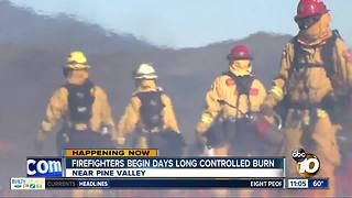 Firefighters start days-long controlled burn - Video