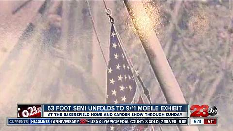 A mobile exhibit honoring those who lost their lives during 9/11 on display at Home and Garden Show