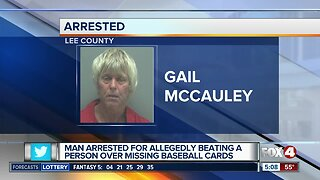 Report: Man beat person over missing baseball cards