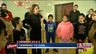 Omaha Curling Club teaches sport to fourth-graders - Video