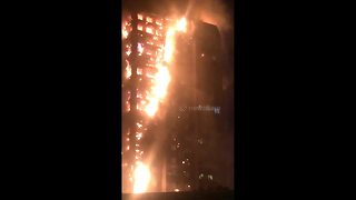 Locals helplessly watch Grenfell Tower fire unfold - Video