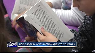 Boise Rotary gives dictionaries to students - Video