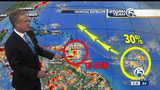 Tropical Storm Don update - Video