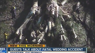 Guests talk about fatal wedding accident