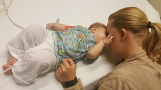 Cochlear Implant Activation allows little deaf girl to hear - Video