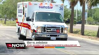 Uber, Lyft taking business away from ambulance companies, study says - Video