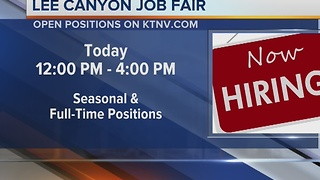 Lee Canyon Hosts Job Fair today - Video