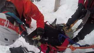 Skiers Rescued After Being Trapped in Gully Overnight Near Cypress Mountain - Video