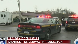 Manhunt underway in Pendleton - Video